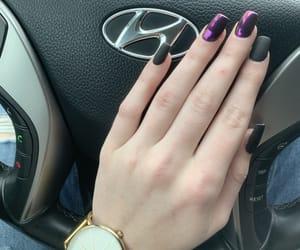 black nails, hyundai, and car image