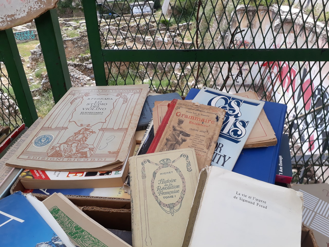 Athens, bibliophile, and book image