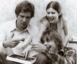 star wars, carrie fisher, and harrison ford image