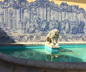 architecture, blue, and fountain image