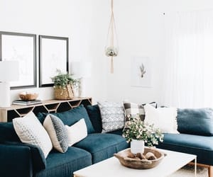 blue and white, decor, and interior design image
