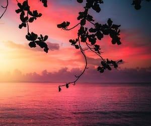 sea and sunset image