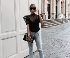 fashion, chic, and jeans image