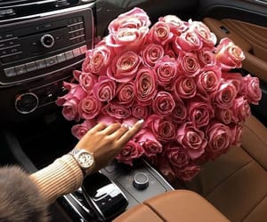 roses, car, and luxury image