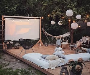 cinema, movienight, and summer vibes image