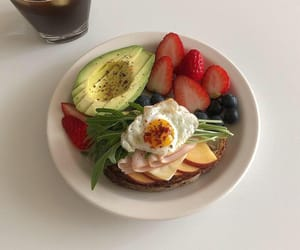 avocado, blueberries, and breakfast image