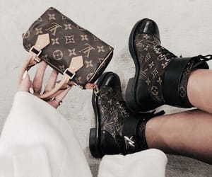 Louis Vuitton, boots, and bag image