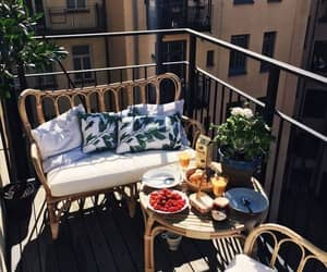 balcony, breakfast, and delicious image