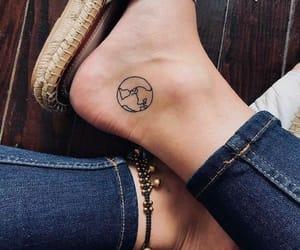 tattoo, feet, and world image