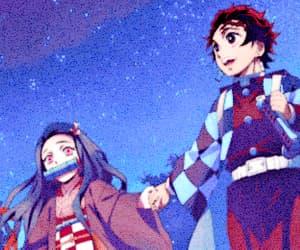 anime, kamado nezuko, and gif image