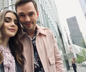 nicholas hoult and lily collins image