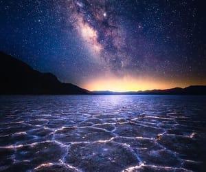 atardecer, estrellas, and galaxia image