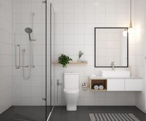 bathroom, minimal, and interior image