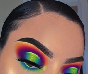 colorful, eye makeup, and lashes image