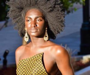beauty, dark skin, and natural hair image