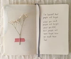 quotes, book, and flowers image