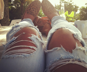 girl, jeans, and shoes image