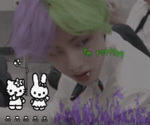 cyber, cybergoth, and taehyung edit image