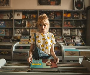 cds, girl, and music image