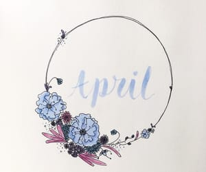 april, colours, and flowers image