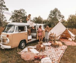 picnic, girls, and exploring image