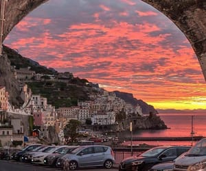 italy, nature, and sunset image