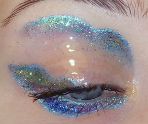 aesthetic, makeup, and blue image