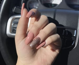 glitter, Nude, and nails image