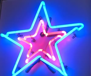 neon, neon sign, and star image