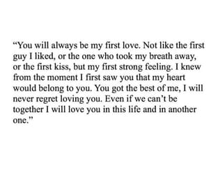 first love, quote, and quotes image