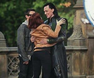 Scarlett Johansson, loki, and tom hiddleston image