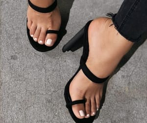 heels, fashion, and nails image