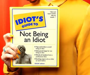 idiot, photography, and words image