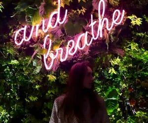 girl, neon, and neon words image