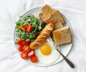 food, breakfast, and toast image
