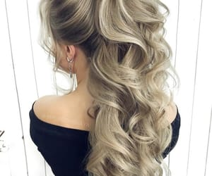blonde, curly, and fashion image