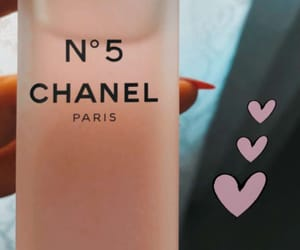 chanel, heart, and perfume image