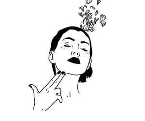 flowers, illustration, and girl image