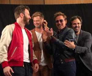 chris evans, chris hemsworth, and captain america image