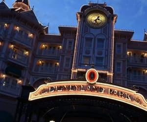 clock, mickey, and disneyland image