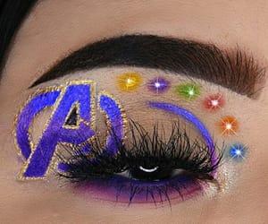 Avengers, eyelashes, and eyeliner image