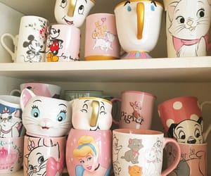 disney, cups, and pink image
