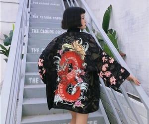 clothes, dragon, and kimono image