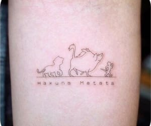 tattoo, hakuna matata, and disney image