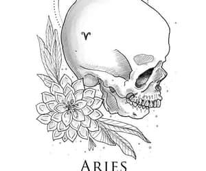 aries, horoscope, and art image