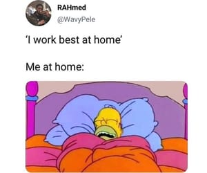 funny, bed, and the simpsons image