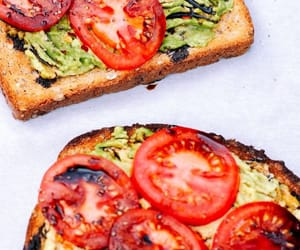 food, toast, and tomato image