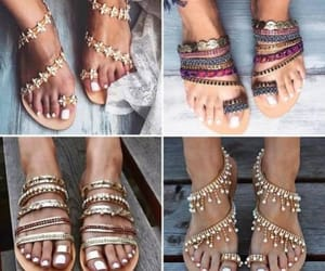 barefoot sandals and bohemian sandals image