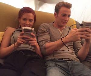 chris evans, Scarlett Johansson, and captain america image