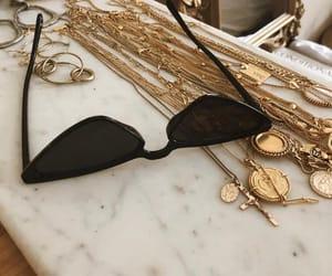 fashion, sunglasses, and gold image